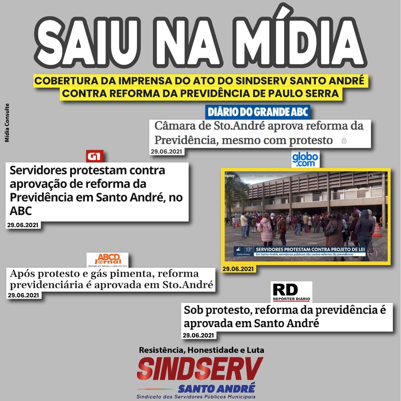 Imagem de Protesto dos servidores contra Reforma da Previdência de Paulo Serra é destaque na imprensa